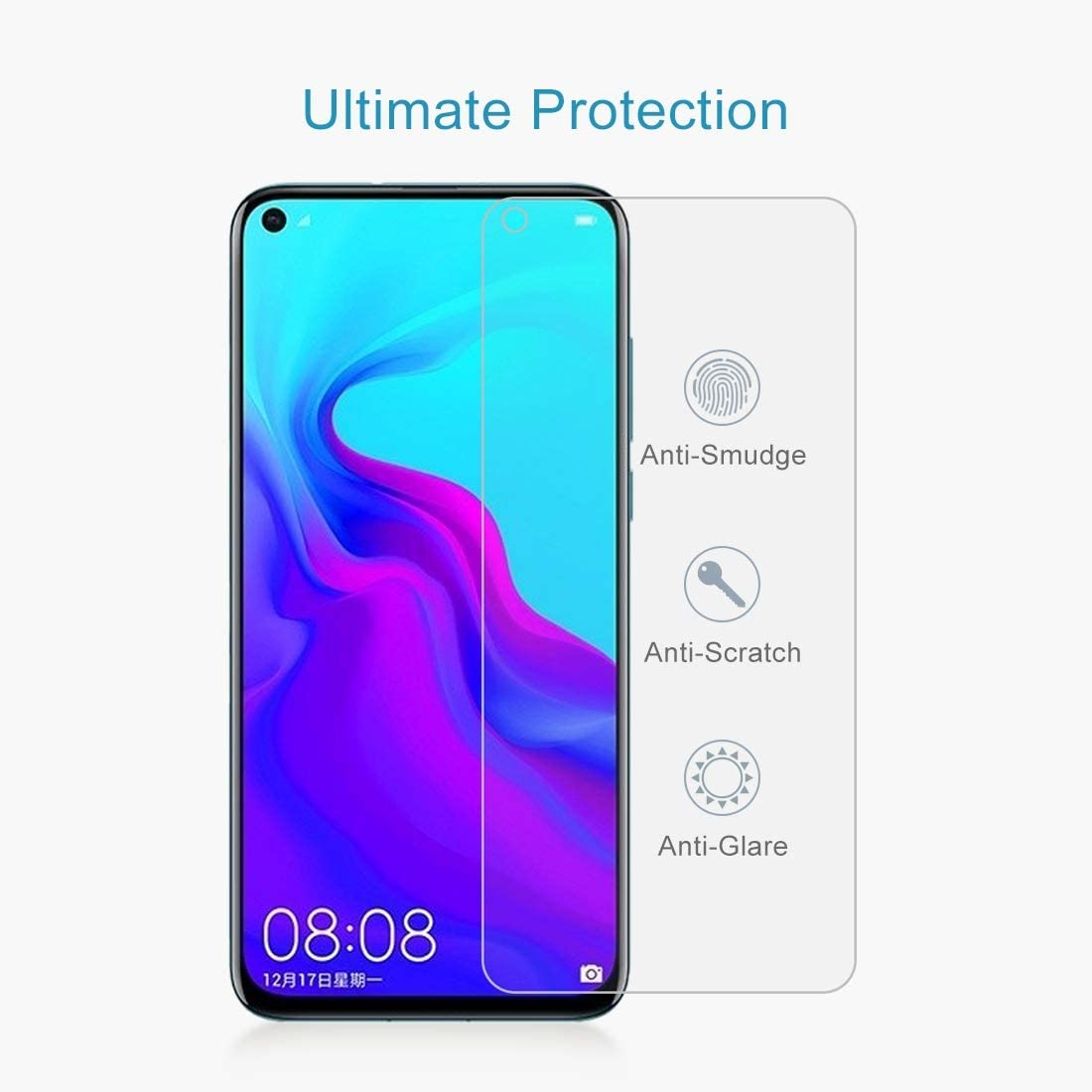 YINZHI Screen Protector Film 100 PCS 0.26mm 9H 2.5D Explosion-Proof Tempered Glass Film for Huawei Nova 4 Clear