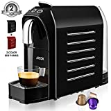Nespresso Coffee Espresso Machine by Aicok, Fast Heat One Touch Coffee Maker, Espresso/Lungo, 24OZ, 1255W, Red&Black In One