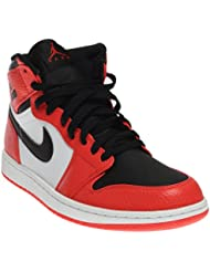 Nike Mens Air Jordan 1 Retro High Basketball Shoe Max Orange/Black 12