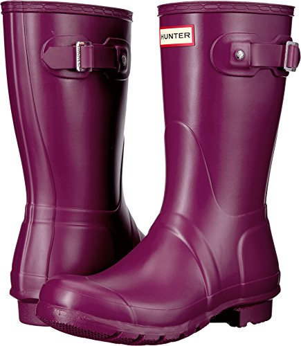 Hunter Womens Original Short Violet Rain Boot - 8 B(M) US