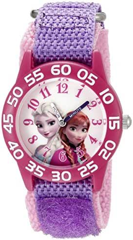 Disney Infinity Kids' W002435 Frozen Elsa & Anna Analog Display Analog Quartz Purple Watch