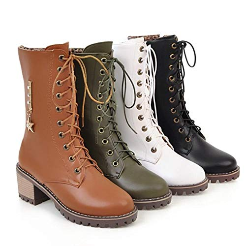 Black Da Stivali Stella Metallo Bootslace CITW Moto In Single Autunno Up Grandi Stivali Dimensioni Donna Boot Hfn5fxZwUq