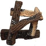 Moda Flame 5 Piece Ceramic Fireplace Log Set