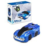 zero gravity remote control car - E-SCENERY RC Car, JJRC Wall Climbing Mini 2.4 Ghz Radio Remote Control Sport Racing Vehicle Mini Zero Gravity Stunt Car Toy for Kids Adults, Rechargeable Battery (Blue)