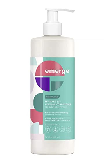 Amazon Com Emerge My Mane Bff Moisturizing Leave In Conditioner 15 5 Fl Oz Infused With Almond Milk And Pequi Oil Moisturizing Formula Nourishes And Smoothes Leave In Conditioner For Curly And Coily Hair