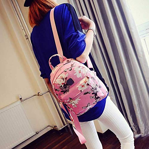 Donalworld Women Floral School Bag Travel Cute PU Leather Mini Backpack S Col6 by Donalworld (Image #5)
