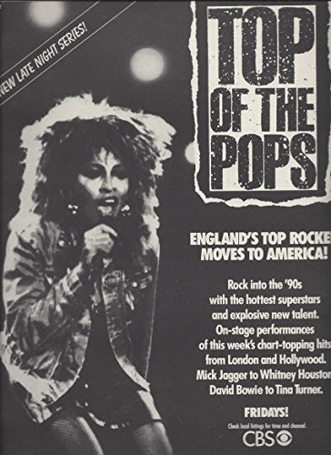 MAGAZINE ADVERTISEMENT With Tina Turner For 1987 Top Of The Pops Promo