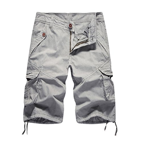 Willsa Mens Cargo Shorts, Fashion Mens Casual Pocket Work Shorts Beach Short Pants by Willsa