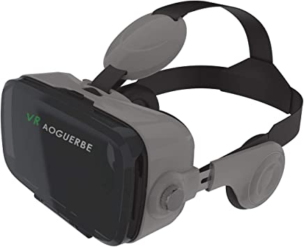 AOGUERBE 3D VR Gafas Realidad Virtual Reality Headset Auriculares ...