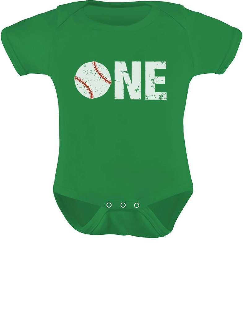 TeeStars – 1st Birthday Gift for One Year old Infant Baseball Baby Bodysuit