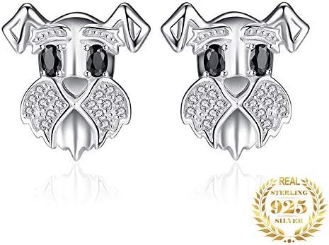 AdronQ Pendientes de espinela Negros Pendientes de Plata 925 para Mujer Pendientes de Gema Joyería de Moda