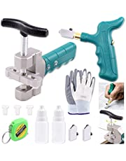 Keadic Glass Tile Cutter Tool Kit, Glass Breaking Pliers, Tile Cutter Hand Tools Set with 6mm Alloy Steel Blades, Spacers, Special Oil Bottles Tape Measure & Cut-resistant Gloves