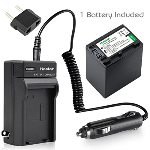 Kastar Battery (1-Pack) and Charger Kit for Sony NP-FH100 NP-FH70 TRV TRV-U and DCR Series DCR-DVD DCR-HC DCR-SR DCR-SX40 HDR-CX HDR-HC HDR-UX20 HDR-SR10 HDR-SR11 HDR-SR12 HDR-XR520V