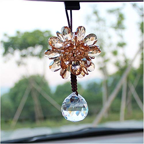 Haomao Crystal Glass Car Ornaments Nautical Home Decor Crafts New Year Decorations Accessories Gift (Color) (Color : - Ornament Year Charm