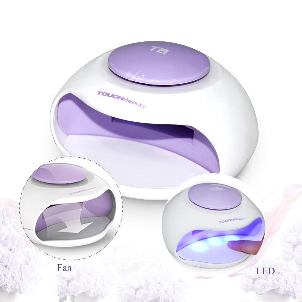 Portable Nail Dryer with Fan & LED Light By TOUCHBeauty Upgraded Non-Blacken Hands Mini Size Ideal For Regular Nail Polishes TB-0889B