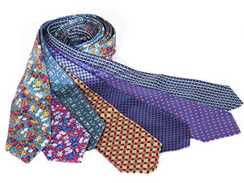 7-Teilig, 100% Reine Seide, Krawatten Cavenagh London-Made In EU (249D Senklot Aus)