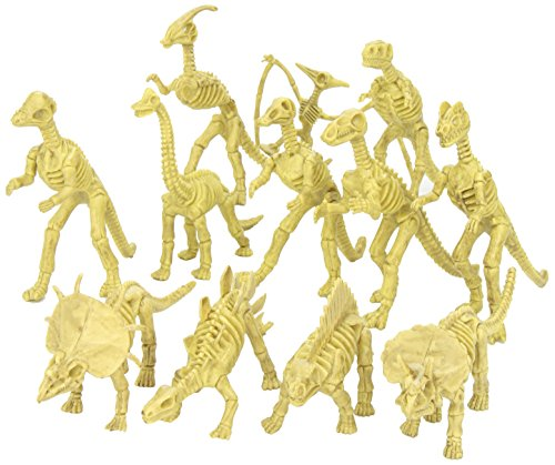 "Assorted Dinosaur Fossil Skeleton 6-7"" Figures, 12-Piece"