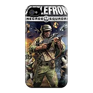 Iphonecase88 Apple Iphone 4/4s Great Hard Cell-phone Cases Support Personal Customs Attractive Strat Wars Series [beK1017Dequ]