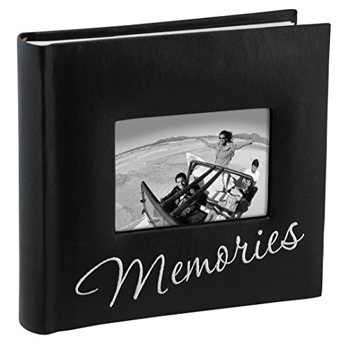 Malden International Designs Memories Cursive 2-Up With Memo Space Photo Album, 160-4x6, Black by Malden International Designs