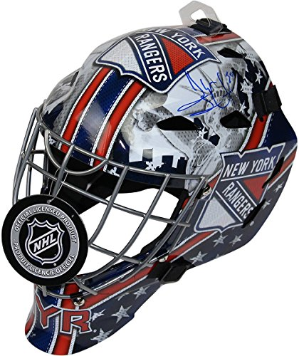 Henrik Lundqvist Signed New York Rangers Full Size Replica Shield Logo Goalie -