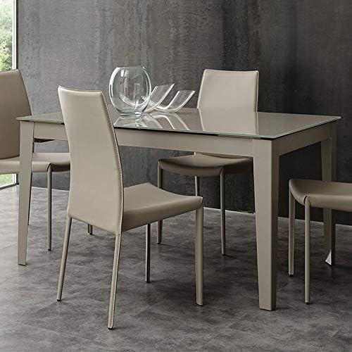 M-029 Mesa de Comedor Topo Design Cristal Extensible Alano: Amazon ...