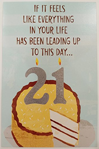 Turning 21 All The Promise It Holds For Wonderful You Happy 21st Birthday Greeting Card