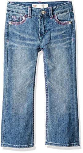 - Levi's Girls' Toddler 715 Bootcut Thick Stitch Jeans, Blue Rapids, 2T