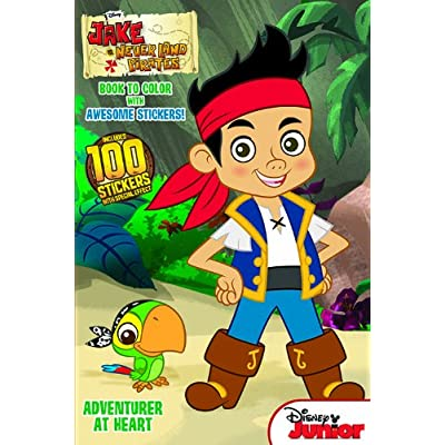 Jake & the Neverland Pirates: Adventurer at Heart: 6x9 Book to Color with Awesome Stickers: Dalmatian Press: Toys & Games