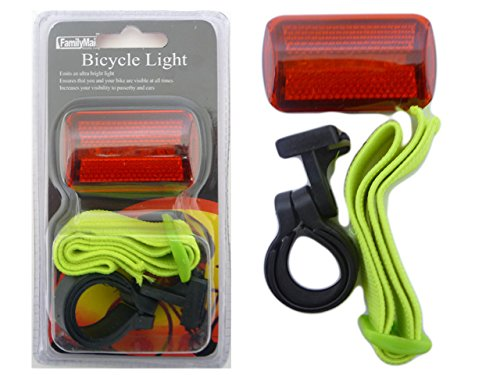 BIKE LIGHT W/STRAP 2.25''X1.5X1, Case of 96