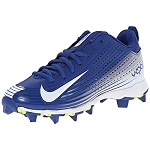 NIKE Boy's Vapor Keystone 2 Low (GS) Baseball Cleat Rush Blue/White Size 4 M US
