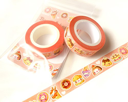 Cute Desserts Washi Tape: Kawaii Food Washi Tape, Scrapbook Decoration, Kawaii Masking Tape, Planner Decoration, Paper Tape, Gift Wrapping