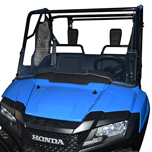 Honda Pioneer 700 Half Scratch Resistant UTV Windshield. The ultimate in side by side versatility! Easy on and off. Quickly install or remove!Premium Hard CoatMade in America! by Clearly Tough