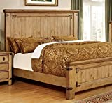 California King Size Bed Frame Dimensions 247SHOPATHOME IDF-7449CK Bed-Frames, California King, Weathered Elm