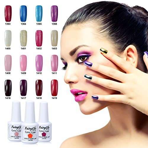 FairyGlo Pick Any 10 Colors UV LED Gel Nail Polish Soak Off Color Nail Art Kit Gift Set Manicure Salon Tool Beauty Nail Care