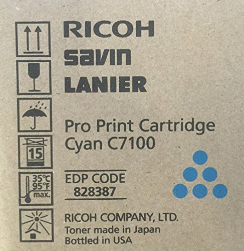Ricoh C7100 Pro Print Cartridge Cyan Toner Savin Lanier 828387
