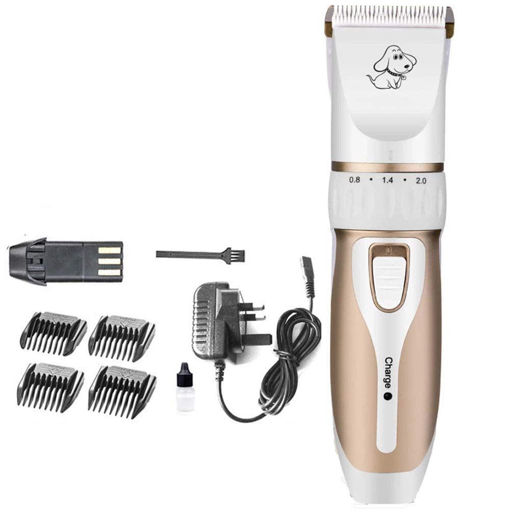 Europe Pet Grooming Clippers Dog Clippers Animal Grooming Clippers Cordless Dog Clippers Professional Dog Grooming Kit Pet Clipper Dogs Cats Pets Hair Trimmer gold