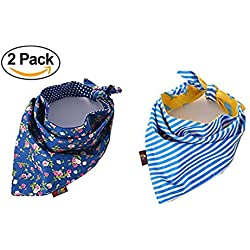 WZPB Dog Bandana Triangle Bibs Scarfs Accessories for Cats and Dog(2 Pack)