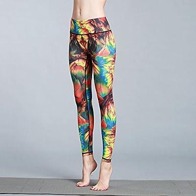 JIALELE Pantalon De Yoga Yoga Fitness Pant Pantalon Yoga Fitness En Plein Air - Stamp Yoga Pants