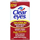 Clear Eyes Maximum Strength Redness Relief Eye Drops, 2 Count