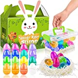 Easter Basket Stuffers Eggs Slime - 28 OZ Easter Eggs Slime Kit 16 Colors for Easter Decorations Parties, Perfect Easter Eggs Basket Gifts in a Bunny Delicate Gift Box for Toddlers Girls Boys