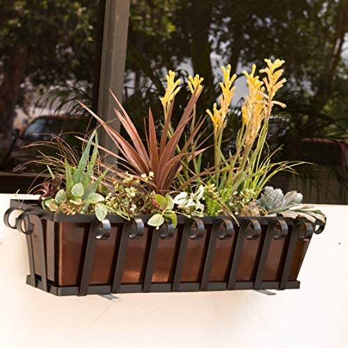 72 Venetian Decora Window Box with Bronze Galvanized Liner