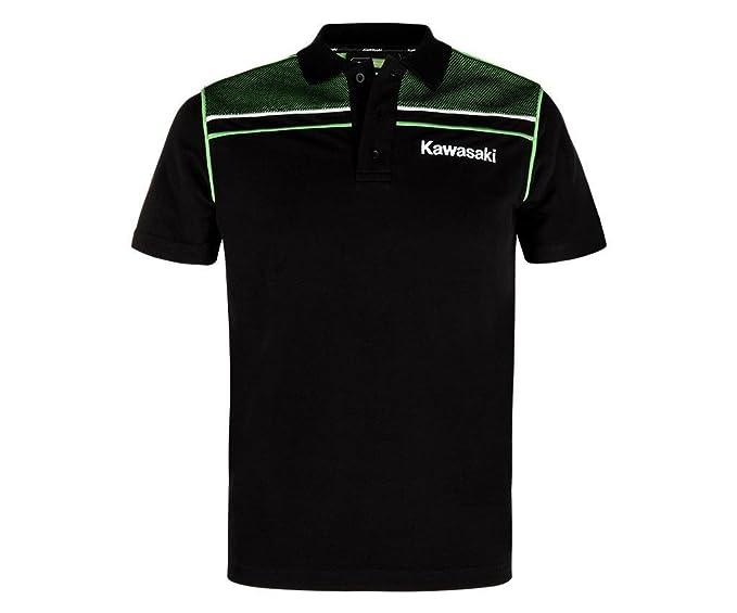 große Auswahl Sortendesign Großhandelspreis Kawasaki SPORTS POLO SHIRT ! NEU schwarz grün (S): Amazon.de ...