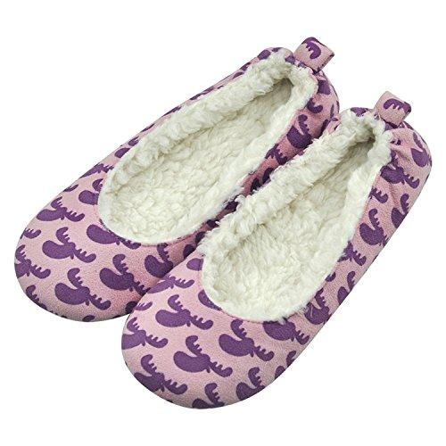 home slipper womens ballerina plush soft sole indoor house ballet