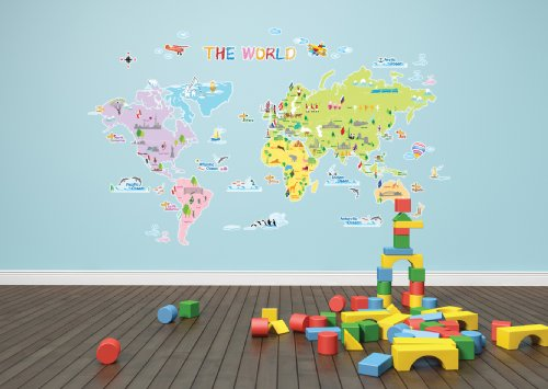 Decowall,DP 08200,Colourful World Map,Home Art Decoration Wall Stickers/wall  Decals/wall Transfers/wall Tattoos/wall Sticker: Amazon.co.uk: Kitchen U0026  Home Part 40
