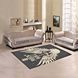Happy More Custom An Electric Guitar With Wings Area Rug Indoor/Outdoor Decorative Floor Rug