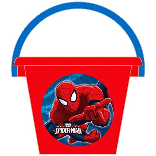 Amscan Spider‑Man Birthday Jumbo Container Party Favor, Red, 6'' x 8'' -