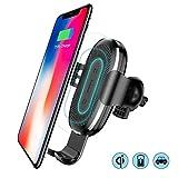 Baseus Cargador Inalámbrico Rápido para Auto con Soporte Gravitacional Compatible con iPhone/Samsung y Dispositivos Habilitados Qi