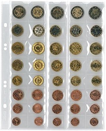 Lindner MU40 Hojas monedas UNIVERSAL para 5 juegeos de Euro con 8 monedas cada uno: Amazon.es: Juguetes y juegos