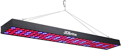 JCBritw Red Blue LED Grow Light 2ft Hanging Long Panel Growing Lamps 60W for Indoor Plants Greenhouse Hydroponics Lighting Fixture for Seedling Veg and Flower