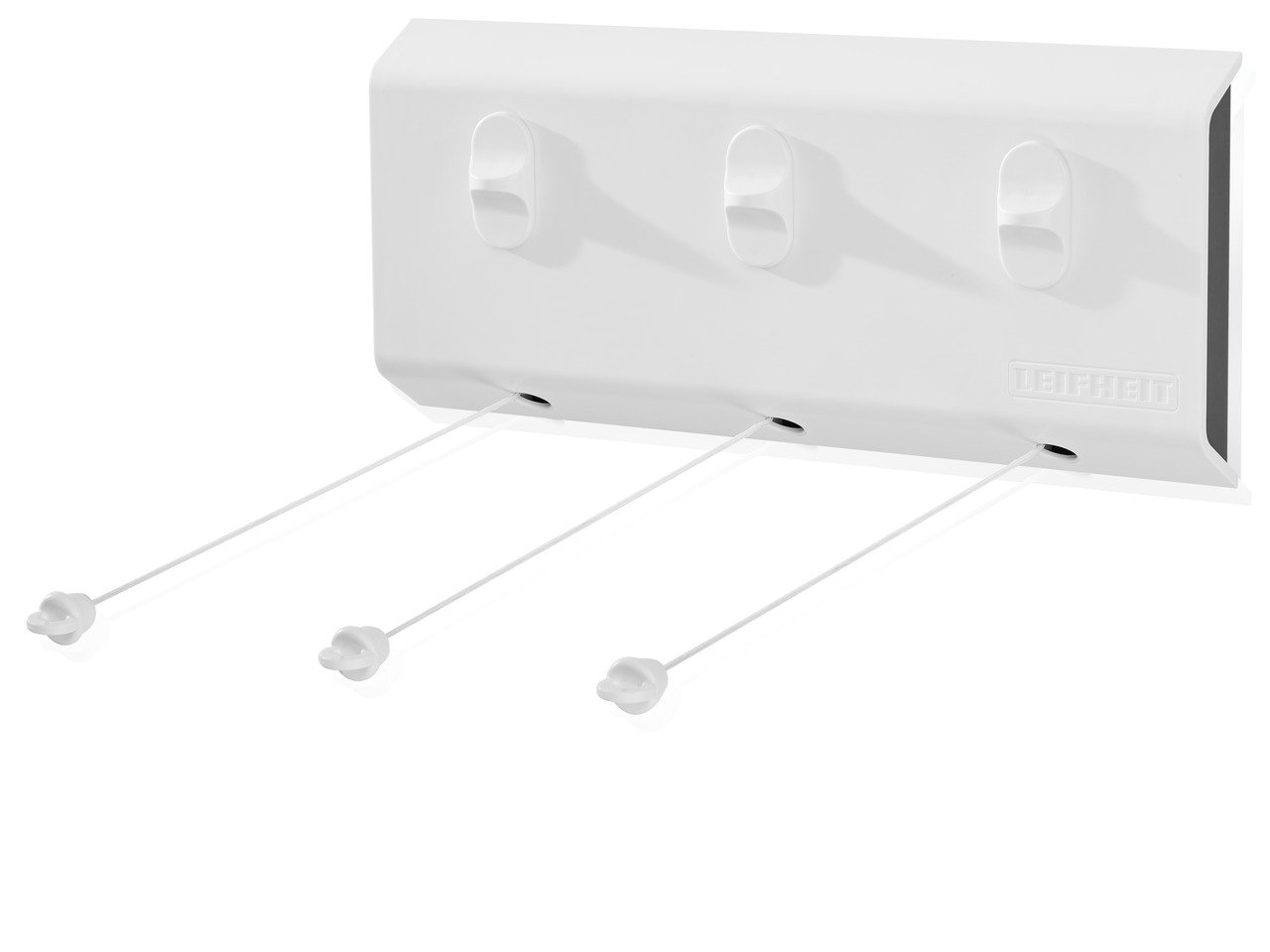 Leifheit Rollfix 150 Triple Longline Stendibiancheria a Parete 15.5x4.7x35 cm Bianco PVC
